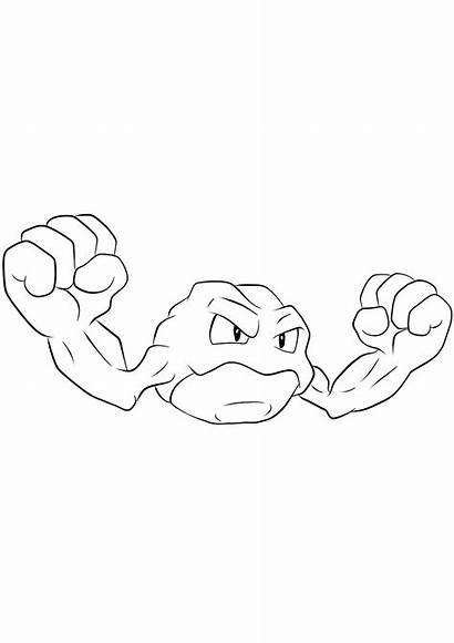 Pokemon Geodude Coloring Generation Pages Rock Type