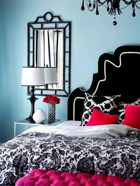 light blue bedroom with red accents bedrooms pinterest