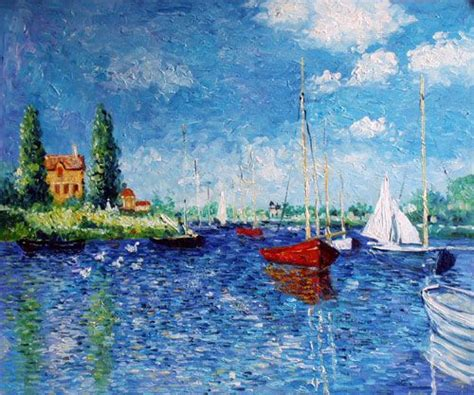 Monet Boats At Argenteuil by Claude Monet Boats Of Argenteuil Claude Monet