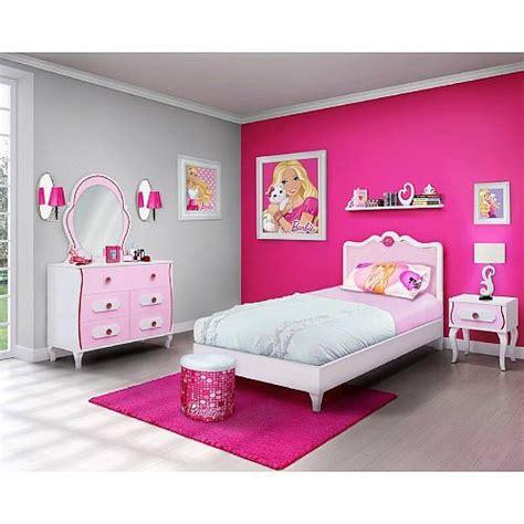 barbie  piece bedroom   box furniture set twin bed
