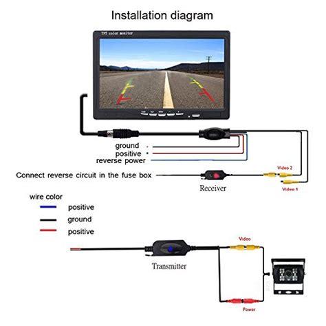 camecho rc 12v 24v car backup rear view wireless ir vision backup waterproof