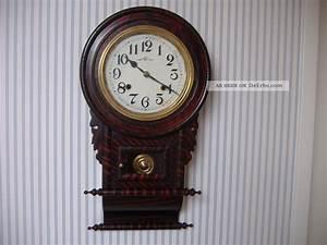 Wanduhr Mit Bildern : alte englische wanduhr mit pendel rar ~ Watch28wear.com Haus und Dekorationen
