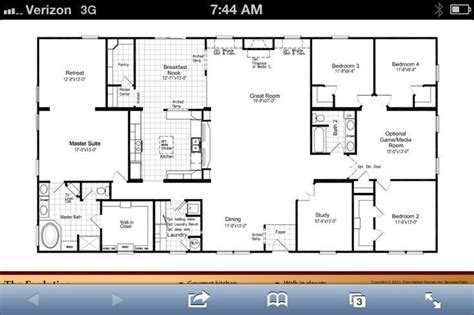 Single Story Open Concept House Plans