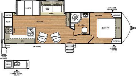 travel trailer floor plans rear kitchen 2015 forest river 268 rks vibe ultra lite ebay