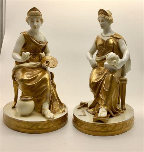 antique pr naples capo  monte classical figurines