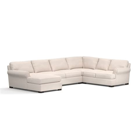 pottery barn townsend sofa townsend upholstered 4 piece sectional with chaise