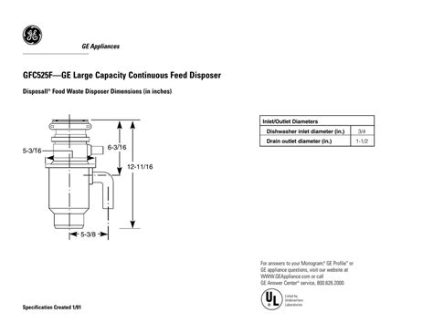 gfcfge large capacity continuous feed disposer    manualzz