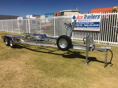 Boat Accessories For Sale by Tandem Axle Aluminium Boat Trailer With Basic Skid Set Up