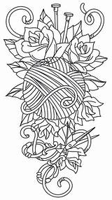 Tattoo Knitting Embroidery Yarn Crochet Designs Tattoos Urbanthreads Sleeve Urban Unique Threads Patterns Paper Awesome Coloring Pattern Ball Pages Sewing sketch template