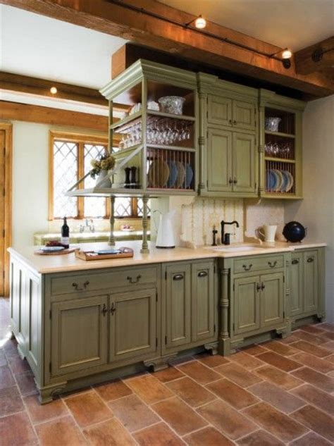 green kitchen furniture antique green kitchen cabinets rapflava 1411