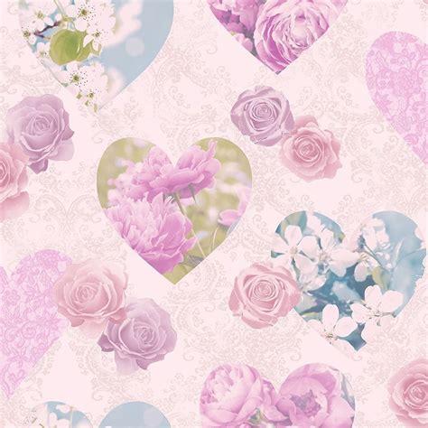 fine decor novelty heart wallpaper pink fd