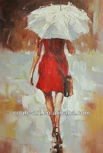 Lady With Umbrella Impressionist Oil Painting On Canvas