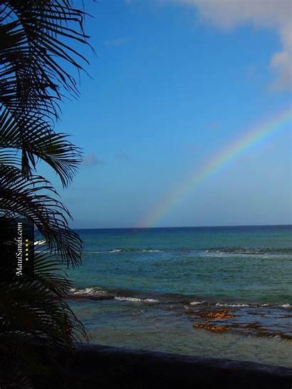 Hawaii Background Wallpapers Ipad Maui Ocean Rainbow