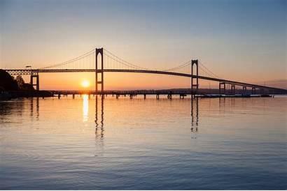 Newport Sunrise Bridge Rhode Flag American Nieuwpoort