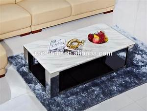 Cheap modern carrara white marble top black steel coffee for Cheap white marble coffee table