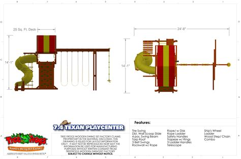 7 4 texan playcenter config 2 with spiral slide swing set
