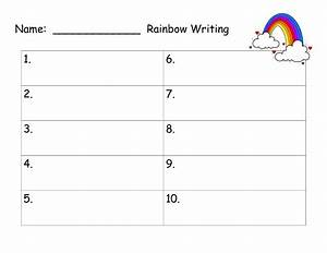 6 best images of printable spelling word paper spelling for Rainbow writing spelling words template
