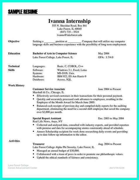 Include Internship On Resume by 100 Ideas To Try About Resume Sle Template And Format Business Intelligence Resume