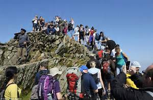 Bank Holiday UK Weather Dozens Of Climbers QUEUE To Reach