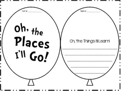 oh the places you ll go preschool activities oh the places you ll go goal setting activity by 419