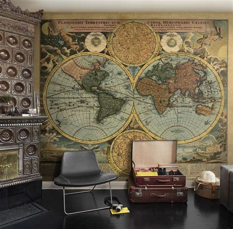 Vintage Map Living Room by 25 Interior Designs With Steunk Style Messagenote