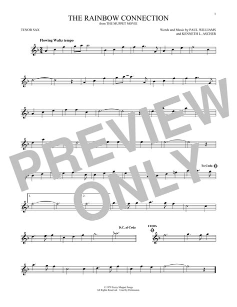 Rainbow Connection Piano Sheet Music