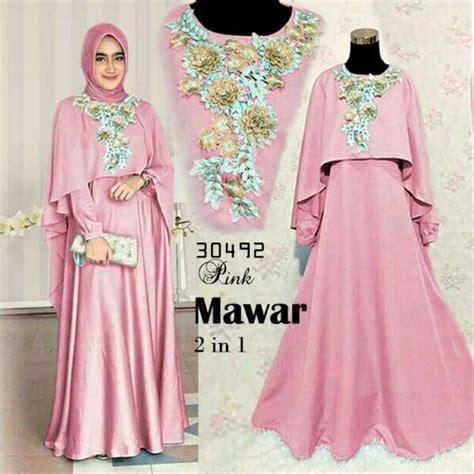 jual baju muslim wanita model terbaru gamis lebaran di
