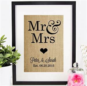 personalized wedding gift mr mrs personalized by chathamplace With mr and mrs wedding gifts