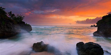 Nature Landscape Sunset Coast Island Beach Rock Sea