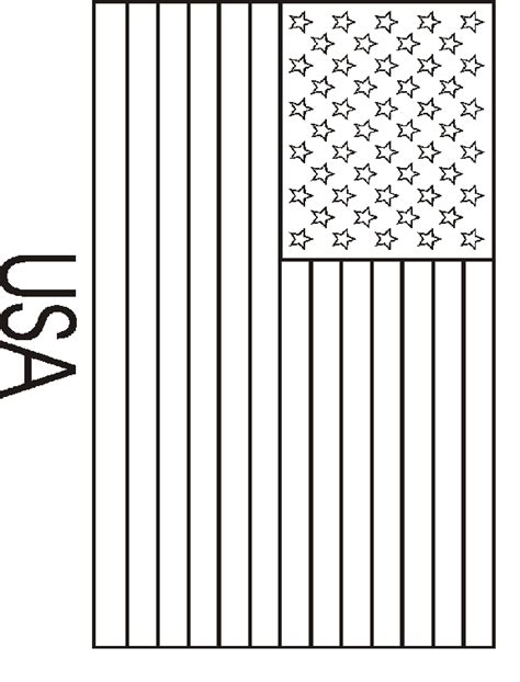 coloring page  usa flag