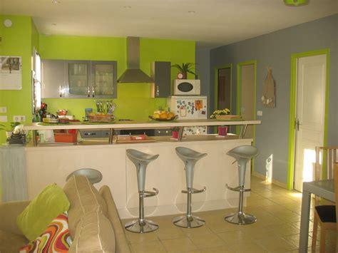 peinture cuisine vert anis décoration salon vert anis exemples d 39 aménagements