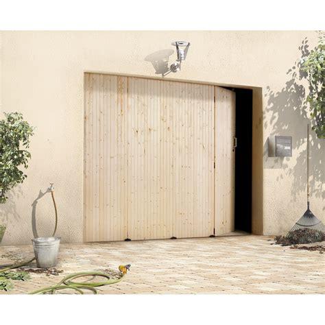 porte de garage coulissante manuelle primo h 200 x l 240 cm leroy merlin