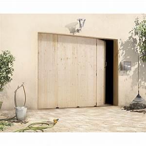 porte de garage coulissante manuelle primo h200 x l240 With porte de garage coulissante en bois
