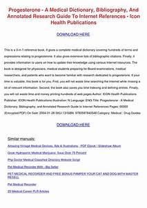 Progesterone A Medical Dictionary Bibliograph By Sherylscoggins