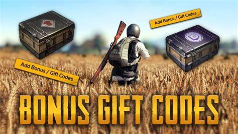 pubg bonus codes pubg bonus gift codes get now