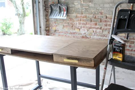 diy modern desk  beginner woodworking project
