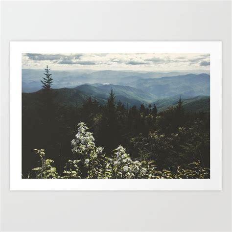 Smoky Mountains Nature Photography Art Print Cascadia