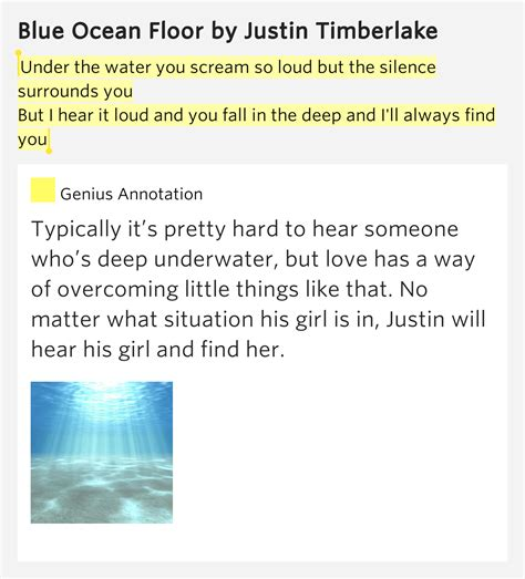 blue floor justin timberlake instrumental the water you scream so loud but the blue