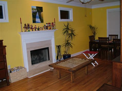 Living Room Accent Wall Colors Yellow A Cozy Design To