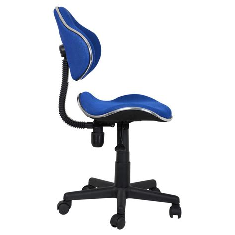 blue adjustable swivel computer desk office chair seat