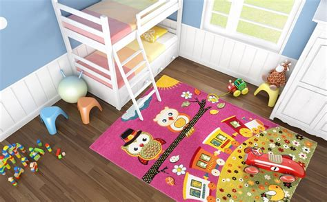 tapis chambre enfants tapis creme pour chambre enfant hibou pas cher