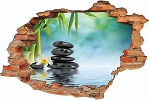 Image Trompe L Oeil : stickers trompe l 39 oeil 3d zen pas cher ~ Melissatoandfro.com Idées de Décoration