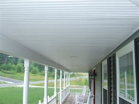 vinyl beadboard soffit  porch ceilings