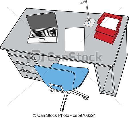 dessin de bureau vecteur eps de bureau affaires ordinateur portable scène
