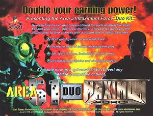 1997 Atari Area 51    Maximum Force Duo Video Flyer Mint