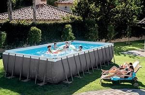 Piscine Tubulaire Intex : piscine tubulaire rectangulaire intex 7 32x3 66x1 32 m ~ Nature-et-papiers.com Idées de Décoration