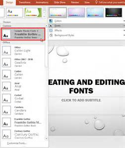 Theme Fonts PowerPoint