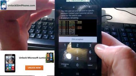how to unlock a phone windows phone unlocking unlocking lumia phone for free