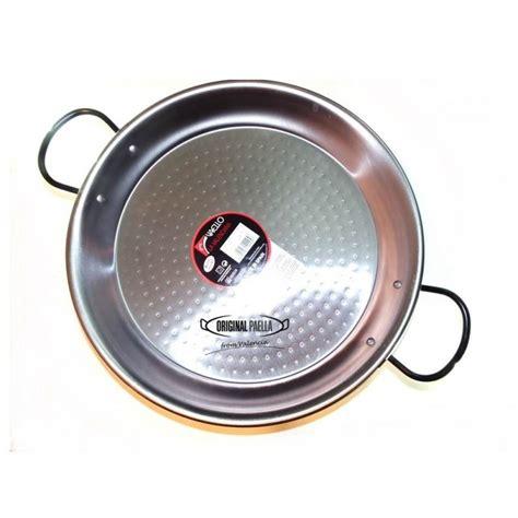 cuisiner haricot blanc poele a paella en acier poli 34 cm 6 parts poele a paella