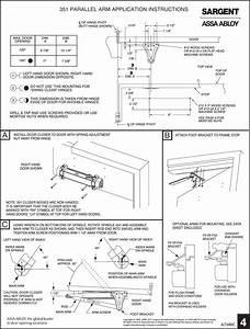 Sargent Instructions For Installing 351 Series Door